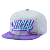 Бейсболка Official - Stay Official (grey/purple) Snapback