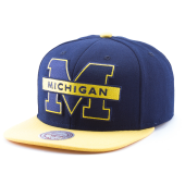 Бейсболка Mitchell & Ness - Michigan Wolverines XL Logo 2 Tone Snapback