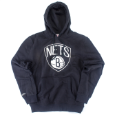Толстовка Mitchell & Ness - Brooklyn Nets Team Logo Hoody (black)