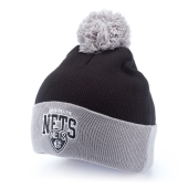 Шапка Mitchell & Ness - Brooklyn Nets Tarck Cuff W/Pom Knit