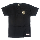 Футболка Mitchell & Ness - Brooklyn Nets Black & Gold Chest Logo Tee
