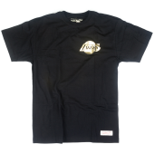 Футболка Mitchell & Ness - Los Angeles Lakers Black & Gold Chest Logo Tee