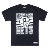 Футболка Mitchell & Ness - Brooklyn Nets Gradient Tee (black)