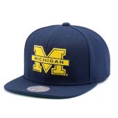 Бейсболка Mitchell & Ness - Michigan Wolverines Wool Soild 2 Snapback