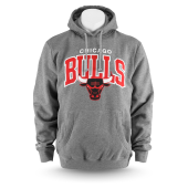 Толстовка Mitchell & Ness - Chicago Bulls Team Arch Hoody (grey heather)