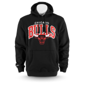 Толстовка Mitchell & Ness - Chicago Bulls Team Arch Hoody (black)