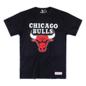 Футболка Mitchell & Ness - Chicago Bulls Team Logo Tee (black)
