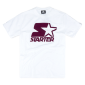 Футболка Starter Black Label - Icon Flock Tee (white/burgandy)