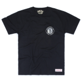 Футболка Mitchell & Ness - Brooklyn Nets Metallic Silver Left Chest Logo Tee
