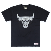 Футболка Mitchell & Ness - Chicago Bulls Metallic Silver Logo Tee
