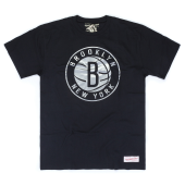 Футболка Mitchell & Ness - Brooklyn Nets Metallic Silver Logo Tee