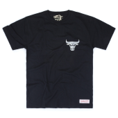 Футболка Mitchell & Ness - Chicago Bulls Metallic Silver Left Chest Logo Tee