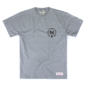Футболка Mitchell & Ness - M&N Beveled Logo Tee (gray/navy)