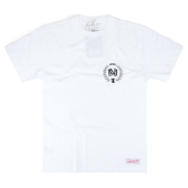 Футболка Mitchell & Ness - M&N Beveled Logo Tee (white/black)