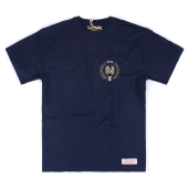 Футболка Mitchell & Ness - M&N Beveled Logo Tee (navy/gold)