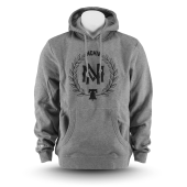 Толстовка Mitchell & Ness - M&N Beveled Logo Hoody (grey/black)
