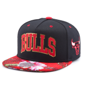 Бейсболка Mitchell & Ness - Chicago Bulls Tropical Team Colour Visor Snapback (gold/red)