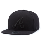 Бейсболка '47 Brand - Atlanta Braves Sure Shot BlackOnBlack Snapback