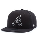 Бейсболка '47 Brand - Atlanta Braves Sure Shot BlackWhite Snapback