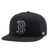 Бейсболка '47 Brand - Boston Red Sox Sure Shot BlackWhite Snapback