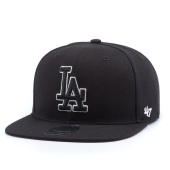 Бейсболка '47 Brand - Los Angeles Dodgers Sure Shot BlackWhite Snapback