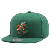 Бейсболка Mitchell & Ness - Miami Hurricanes Wool Solid Snapback