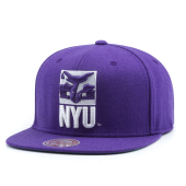 Бейсболка Mitchell & Ness - New York University Violets Wool Solid Snapback (purple)