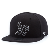 Бейсболка '47 Brand - Oakland Athletics Sure Shot BlackWhite Snapback