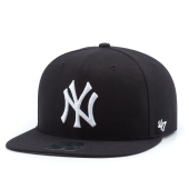 Бейсболка '47 Brand - New York Yankees No Shot Snapback (black/white)