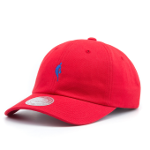Бейсболка Mitchell & Ness - Little Dribbler Dad Hat (red/royal)
