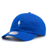 Бейсболка Mitchell & Ness - Little Dribbler Dad Hat (royal/white)