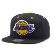 Бейсболка Mitchell & Ness - Los Angeles Lakers Solid Velour Logo Snapback