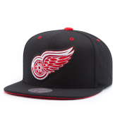 Бейсболка Mitchell & Ness - Detroit Red Wings Solid Velour Logo Snapback