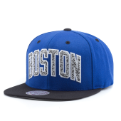 Бейсболка Mitchell & Ness - Boston Celtics Sport Blue Team Wordmark Snapback