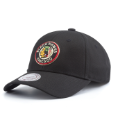 Бейсболка Mitchell & Ness - Chicago Blackhawks Team Logo Cotton Low Pro Strapback