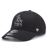 Бейсболка '47 Brand - Los Angeles Dodgers '47 MVP Black & White Snapback