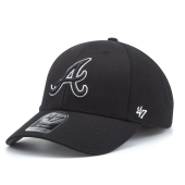 Бейсболка '47 Brand - Atlanta Braves '47 MVP Black & White Adjustable