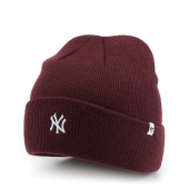 Шапка '47 Brand - New York Yankees Centerfield Cuff Knit (dark maroon)