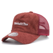 Бейсболка Mitchell & Ness - M&N Long Hair Suede Trucker Snapback (burgundy)