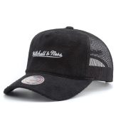 Бейсболка Mitchell & Ness - M&N Long Hair Suede Trucker Snapback (black)