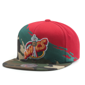 Бейсболка Mitchell & Ness - Seattle Supersonis Camo Paintbrush Snapback