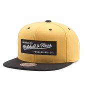 Бейсболка Mitchell & Ness - Box Logo Snapback (rusted gold/black)