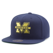 Бейсболка Mitchell & Ness - Michigan Wolverines Wool Soild Snapback