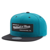 Бейсболка Mitchell & Ness - Box Logo Snapback (teal green/black)