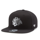Бейсболка '47 Brand - Chicago Blackhawks Sure Shot Snapback (black&white)