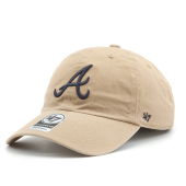 Бейсболка '47 Brand - Atlanta Braves Clean Up Khaki & Navy