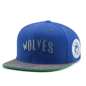 Бейсболка Mitchell & Ness - Minnesota Timberwolves Melange Patch Snapback