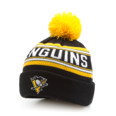 Шапка Outerstuff - Pittsburgh Penguins Wordark Jacquard Cuff Pom