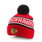 Шапка Outerstuff - Chicago Blackhawks Wordark Jacquard Cuff Pom