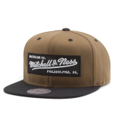 Бейсболка Mitchell & Ness - Box Logo Snapback (yellow chocolate)
